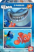 Puzzle Disney Reševanje malega Nema Educa 2x20 delov