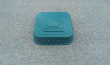 Pískoviště pro děti Starplast čtvercové s krytem objem 60 litrů od 2 let tmavozelené