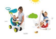 Set odrážadlo Bubble Go s melódiami Smoby modré a nočník autíčko s volantom a klaksónom od 6 mesiacov