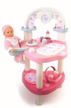 Domčeky pre bábiky sety - Set prebaľovací stôl pre bábiku Baby Nurse Srdiečko Smoby a kočík Maxi Cosi & Quinny 3v1 (70 cm rúčka)_0