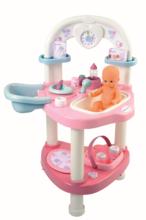 Domčeky pre bábiky sety - Set prebaľovací stôl pre bábiku Baby Nurse Srdiečko Smoby a kočík Maxi Cosi & Quinny 3v1 (70 cm rúčka)_8