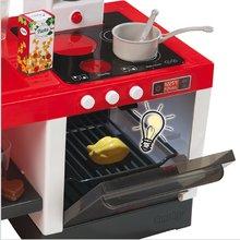 Staré položky - Elektronická kuchynka TEFAL Chefronic Smoby červená so zvukmi a svetlom + 20 doplnkov 62 cm výška_2