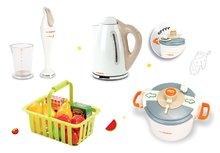 Spotrebiče do kuchynky - Set tlakový hrniec Mini Tefal Smoby ponorný mixér Tefal, rýchlovarná kanvica Tefal a malý košík s ovocím_7