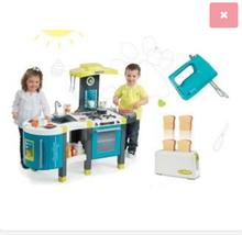 Set detská kuchynka Tefal French Touch Smoby so zvukmi a ľadom a hriankovač s ručným mixérom