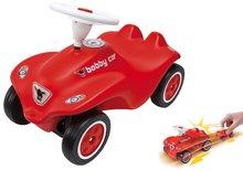 Set odrážadlo New Bobby BIG s klaksónom červené a autíčko New Mini Bobby na naťahovanie