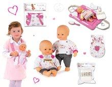 Set bábika Baby Nurse Zlatá edícia Smoby 32 cm, nočný úbor, prebaľovacia podložka, klokanka a sada plienok