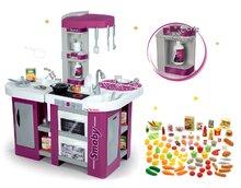 Szett játékkonyha Tefal Studio XL Smoby hanggal és élelmiszer szett játékkonyhába 100 drb