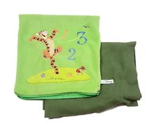 Plyšový vankúš s dečkou Tiger Macko Pú Ilanit zelený 25*25 cm