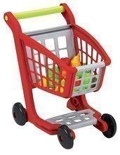 Obchody pre deti - Nákupný vozík 100% Chef Écoiffier s potravinami a 13 doplnkami červeno-strieborný od 18 mes_1