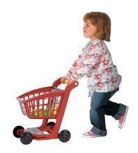 Obchody pre deti - Nákupný vozík 100% Chef Écoiffier s potravinami a 13 doplnkami červeno-strieborný od 18 mes_0