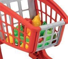 Obchody pre deti - Nákupný vozík 100% Chef Écoiffier s potravinami a 13 doplnkami červeno-strieborný od 18 mes_2