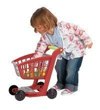 Obchody pre deti - Nákupný vozík 100% Chef Écoiffier s potravinami a 13 doplnkami červeno-strieborný od 18 mes_3