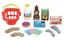 Obchody pre deti - Nákupný vozík 100% Chef Écoiffier s potravinami, pokladňou a 44 doplnkami od 18 mes_1
