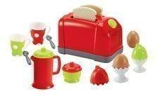 Hry na domácnosť - Set upratovací vozík s elektronickým vysávačom Vacuum Cleaner Smoby a vaflovač s mixérom kávovarom a hriankovač s vajíčkami_6