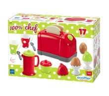 Hry na domácnosť - Set upratovací vozík s elektronickým vysávačom Vacuum Cleaner Smoby a vaflovač s mixérom kávovarom a hriankovač s vajíčkami_16