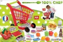 Obchody pre deti - Nákupný vozík 100% Chef Écoiffier s potravinami, pokladňou a 44 doplnkami od 18 mes_13