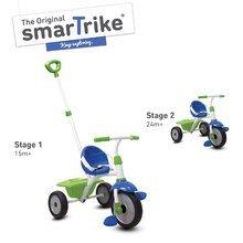 Tricikli Fun 2in1 smarTrike tolókarral kék-zöld