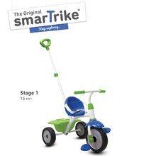 Trojkolka Fun 2v1 smarTrike s vodiacou tyčou modro-zelená od 15 mes