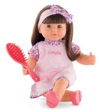 Játékbaba Alice hosszú barna hajjal Mon Grand Poupon Corolle 36 cm barna pislogó szemekkel és fésüvel 3 évtől CO130060