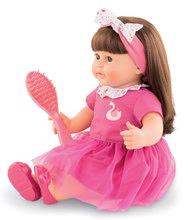 Hračky pre bábätká - Bábika Alice s hnedými vlasmi Mon Grand Poupon Corolle 36 cm s hnedými klipkajúcimi očami a hrebeňom od 3 rokov_0