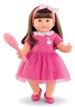 Hračky pre bábätká - Bábika Alice s hnedými vlasmi Mon Grand Poupon Corolle 36 cm s hnedými klipkajúcimi očami a hrebeňom od 3 rokov_1
