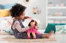 Hračky pre bábätká - Bábika Alice s hnedými vlasmi Mon Grand Poupon Corolle 36 cm s hnedými klipkajúcimi očami a hrebeňom od 3 rokov_6
