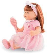 Hračky pre bábätká - Bábika Ambre s ryšavými vlasmi Mon Grand Poupon Corolle 36 cm s hnedými klipkajúcimi očami a hrebeňom od 3 rokov_1