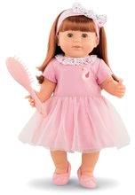 Hračky pre bábätká - Bábika Ambre s ryšavými vlasmi Mon Grand Poupon Corolle 36 cm s hnedými klipkajúcimi očami a hrebeňom od 3 rokov_0