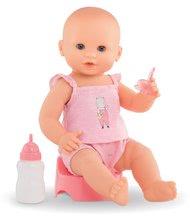 Bábiky od 24 mesiacov - Bábika Emma pije ciká a kúpe sa Mon Grand Poupon Corolle 36 cm s modrými klipkajúcimi očami a 3 doplnky od 24 mes_8