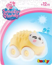 Zvieratko na kolieskach Sweet Planet Smoby  psík, ježko, zajačik, myška, mačička, kravička 7 cm na karte od 12 mesiacov