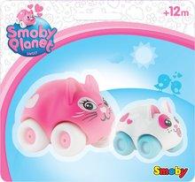 Souprava 2 zvířátek na kolečkách Sweet Planet Smoby maminka a miminko na kartě 7 cm od 12 měsíců
