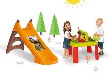 Staré položky - Set šmykľavka Máša a medveď Smoby Toboggan XS dĺžka 90 cm a stôl Záhradník De Jardinage 2v1 od 24 mes_1