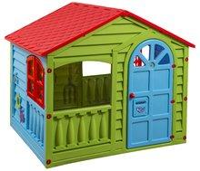 Detský domček Happy House Marianplast od 2 rokov zeleno-modrý