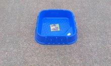 Nisipare pentru copii - Nisipar Starplast în formă pătrată cu capac volum de 60 litri albastru-roşu de la 24 luni_1