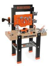 Pracovná dielňa pre deti Black+Decker Smoby s mechanickou vŕtačkou a autíčkom s 92 doplnkami