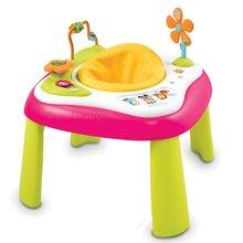 SMOBY 110206 Cotoons rózsaszín youpi készségfejlesztő játszóasztal hanggal és fénnyel 5 hó kortól