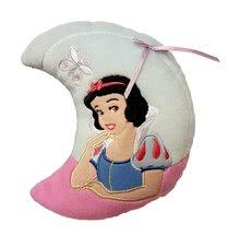 Pernă mică Albă ca zăpada Ilanit în formă de lună roz 17*15 cm