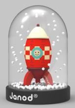 Snehová guľa s raketou Janod výška 7,3 cm
