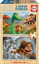 Drevené Disney puzzle - Drevené puzzle Dobrý dinosaurus Educa 2x 25 dielov_0
