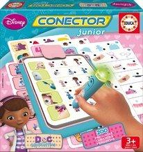 Spoločenská hra Doktorka McStuffins Conector junior Educa 40 kariet a 200 otázok s inteligentným perom v angličtine