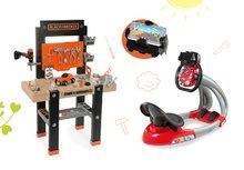 Set pracovná dielňa pre deti Black+Decker Smoby s vŕtačkou a elektronický trenažér Autá Ice V8 Driver