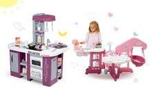 Set detská kuchynka Tefal Studio XL Smoby s umývačkou riadu a chladničkou a opatrovateľské centrum pre bábiku