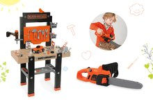 SMOBY 360701-7 set detská pracovná dielňa s vŕtačkou a elektronická motorová píla Black+Decker