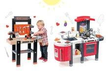 Kuchynky pre deti sety - Set kuchynka Tefal SuperChef Smoby s grilom a kávovarom a pracovná dielňa s vŕtačkou Black+Decker_26