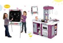 Set detská kuchynka Tefal Studio XL Smoby s umývačkou riadu a chladničkou a magnetická obojstranná tabuľa polohovateľná