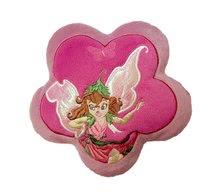 Polštářek Fairies ve tvaru květiny Ilanit růžový 18 cm průměr
