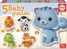 Bébi puzzle - Bébi puzzle Állatkák cicussal Educa 5 fajta képpel 24 hó-tól_0
