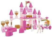 Építőjáték Abrick Kastély hercegnőnek Écoiffier dobozban hintóval és hercegnővel rózsaszín 18 hó-tól