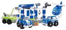 Építőjáték Rendőrautók Abrick Écoiffier garázzsal dobozban kék 18 hó-tól