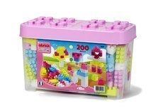 Építőjáték Maxi Abrick Écoiffier nagy kockákkal rózsaszín dobozban 200 db 18 hó-tól
